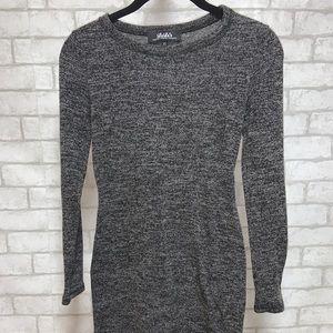 Lulu's Grey Bodycon Sweater Dress
